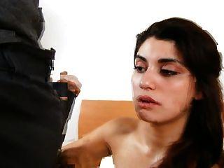 Adolescente étnico en lencería hardcore pussy pounding