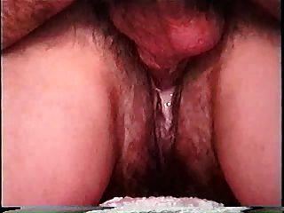 Creampie peludo