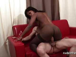 Squirt puta negra duro follada anal puño y facialized