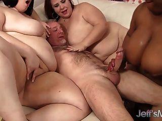 4 bbw cachonda follando un hombre afortunado