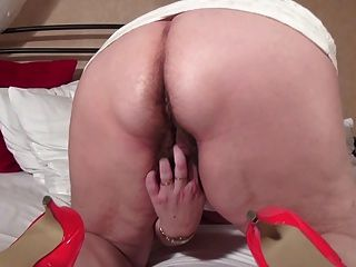 Abuelita grande con vagina peluda