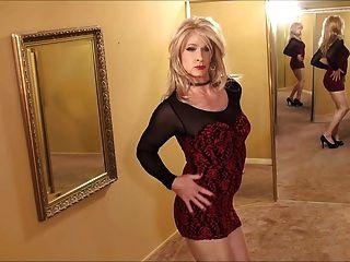 Cd en vestido rojo negro