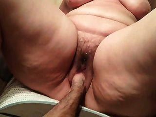 Bbw doble puño boquiabierto coño peludo