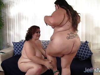 Sexy plumpers bella bendz y lady lynn disfrutan de sexo lésbico