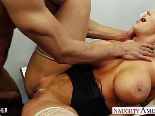 Caliente sexo profesor alura jenson follando un gran eje