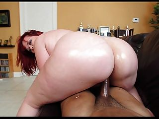 Bbw pelirroja interracial