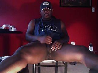 Str8 negro papá stoke su carne ll