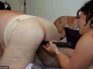 Oldnanny viejo gordito masturbándose con juguetes