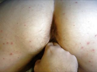 Bbw big ass peludo coño esposa doggy digitación orgasmo femenino