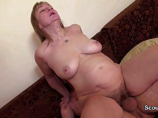 Mamá y papá alemanes en casting porno privado