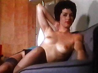 Nylon momento vintage striptease talones medias
