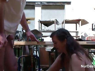 Milf alemana no madre en medias seducir a follar