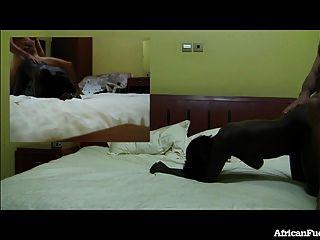 Hotel sexo con chica africana caliente!