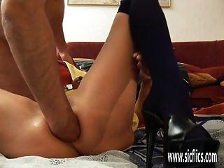 Consolador uretral follado y anal fistado aficionado