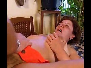 Sweet bbw abuelita lleva en el culo
