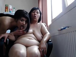 Amateur webcam casera lesbiana joven y viejo