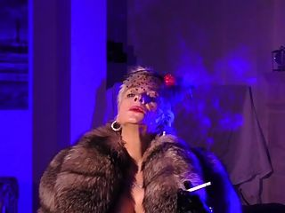 Vanessa fetiche totalmente vestido talones nylons garter furs bcbg