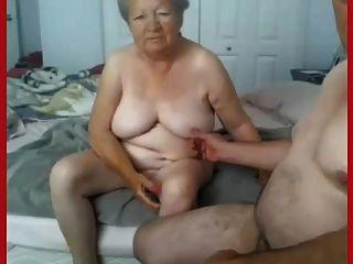 Abuelita y abuelo desnuda en cámara