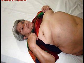 Vieja abuela amateur latina con grandes tetas y culo grande