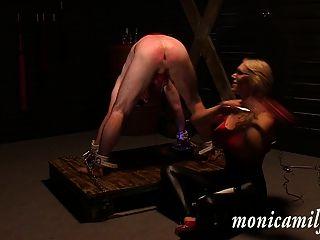 Dentro de la mazmorra de monicamilf 30 min como esclava femdom