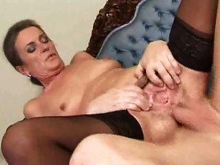 Vieja follada en el culo