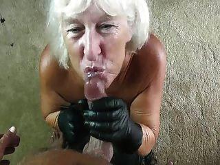Gilf guantes de cuero mamada