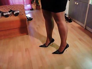 Aficionados en medias de nylon y zapatos de tacón alto