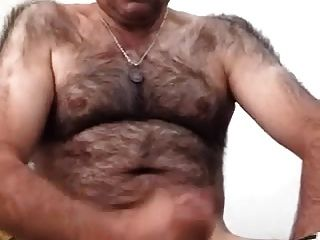 Str8 bigote papá casado jugar en la cama