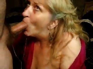 Mujer madura profunda mamada