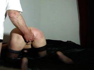Castigar, esclavo, esposa, cinturón
