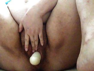 Bbw follando su coño gordo peludo.