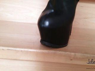 July skyhigh vende botas de muslo usadas pvc cuero ebay