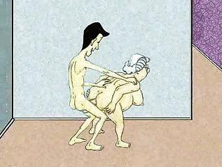 Sexy abuela anal y squirt!¡animación!