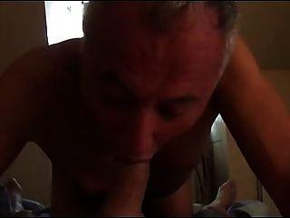 Abuelo 3in1 rimming, chupar y obtener follada