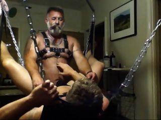 Papá y cachorro