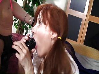 Saggy tit maduro tj y redhead granny strapon sesión