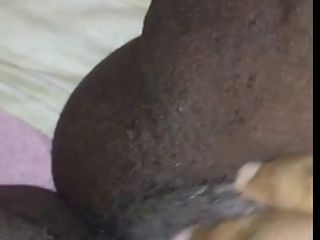 Big clit bbw ébano jugoso solo squirt close up