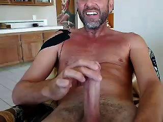 Str8 daddy cum en la webcam cara