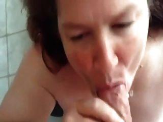 #homemademature épica mamada y cum en la esposa madura