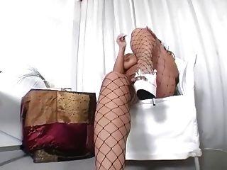 big booty morena teasing en pantimedias de fencenet