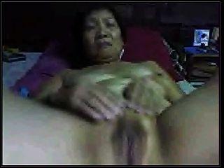 amateur, asiático, abuelita, cam