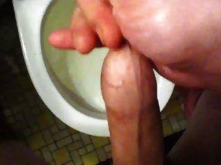 cumming dentro del prepucio otra vez (antes de la ducha)