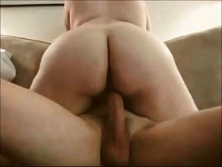 esposa amateur en montar a caballo lento y sensual