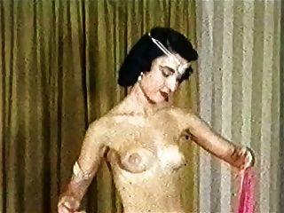 danza exótica de las bufandas de seda Vintage Slim Tease