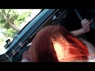 puta dura en el coche