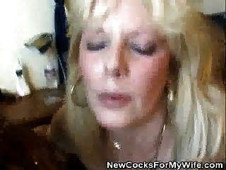 el wifey consigue golpeado por un perno prisionero negro como el marido mira
