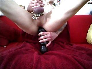 consolador grande anal profundo