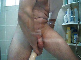 enema en la ducha y doble dong grande en mi culo