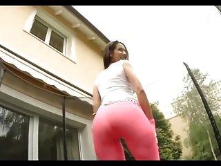 chicas calientes en la compilación de los pantalones de yoga