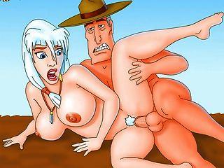 futurama y otros famosos héroes de dibujos animados en el porno más sucio